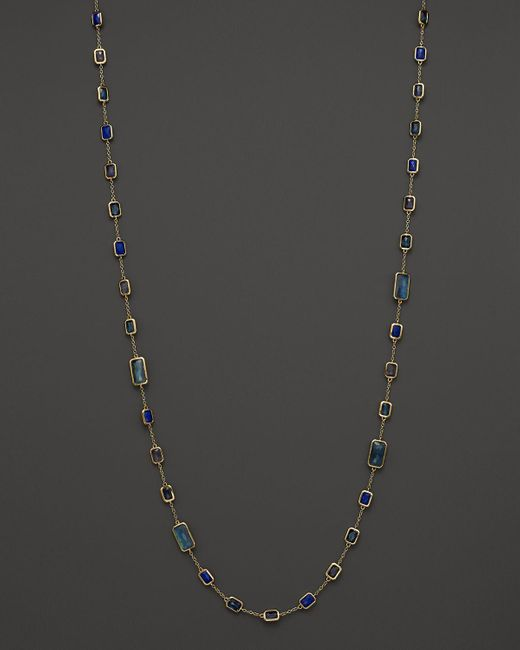 Ippolita | Blue 18k Gold Rock Candy Large Lollipop Necklace In Liberty, 40"