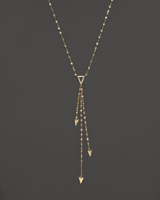 "Lana Jewelry   Metallic 14k Yellow Gold Tri Vista Necklace, 16""   Lyst"