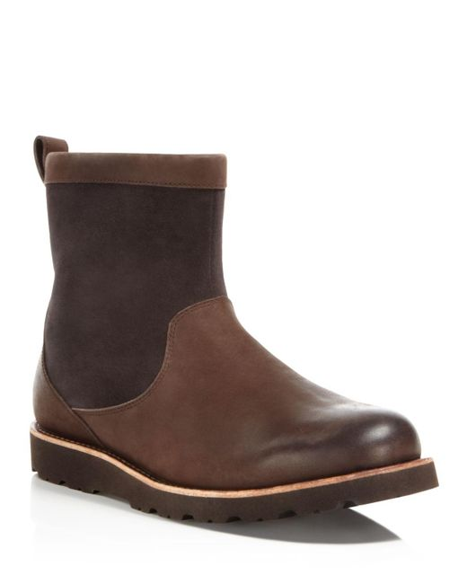 UGG | Brown Australia Hendren Tl Waterproof Side Zip Boots | Lyst
