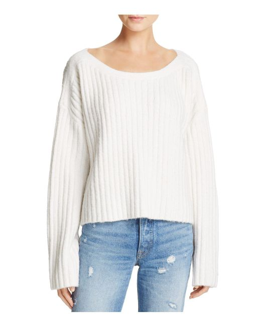 French Connection | White Riva Chunky Ribbed Sweater | Lyst
