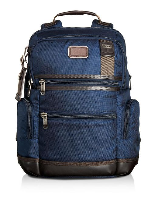 Tumi   Brown Alpha Bravo Navy Knox Backpack for Men   Lyst