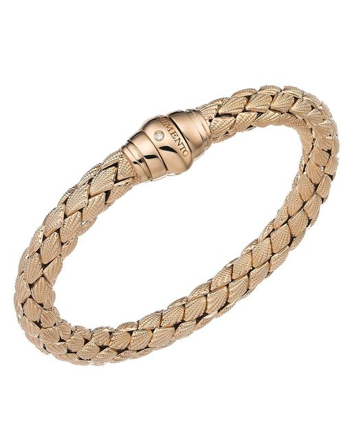 Chimento | Metallic 18k Rose Gold Stretch Classic Collection Pyramid Shell Bracelet With Diamonds | Lyst