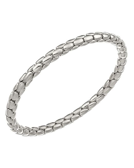 Chimento | 18k White Gold Stretch Spring Collection Disc Rope Bracelet | Lyst
