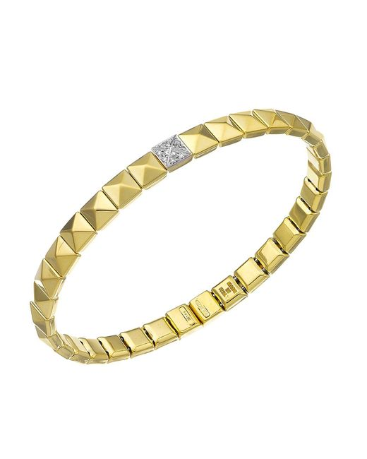 Chimento | Metallic 18k Yellow & White Gold Armillas Pyramis Collection Square Link Bracelet With Diamonds | Lyst