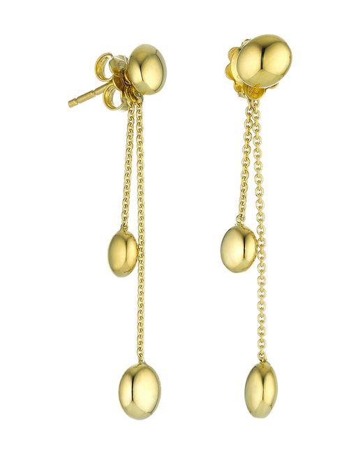 Chimento | Metallic 18k Yellow Gold Armillas Acqua Collection Bead Chain Drop Earrings | Lyst
