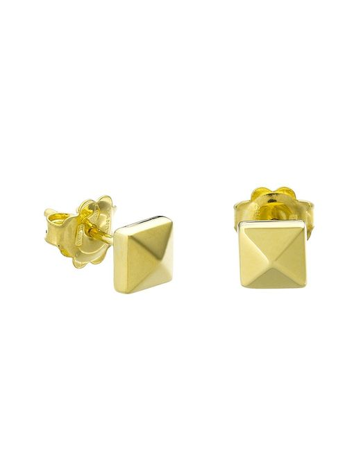 Chimento | Metallic 18k Yellow Gold Armillas Pyramis Collection Square Stud Earrings | Lyst