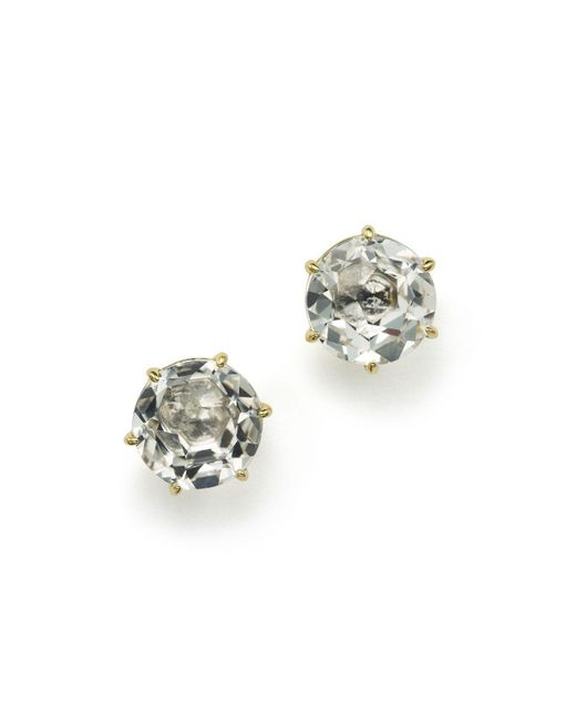 Ippolita | Metallic 18k Gold Rock Candy® Medium Round Stud Earrings In Clear Quartz | Lyst