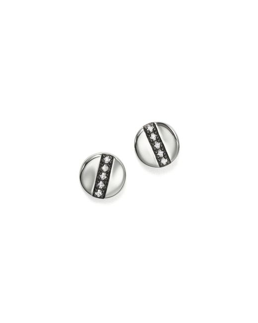Ippolita | Metallic Sterling Silver Glamazon Stardust Station Stud Earrings With Diamonds | Lyst