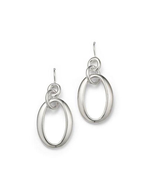Ippolita | Metallic Sterling Silver Glamazon Short Oval Link Earrings | Lyst