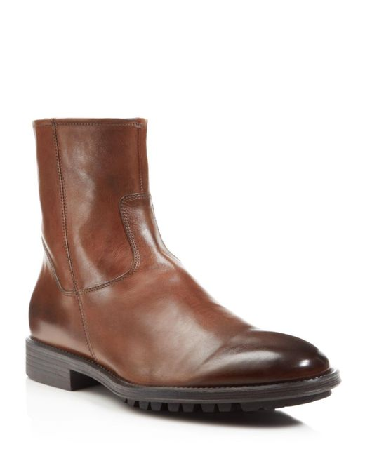 To Boot | Brown Harrison Side Zip Boots for Men | Lyst