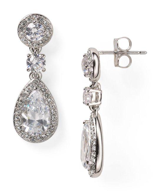 Nadri - Metallic Framed Drop Earrings - Lyst