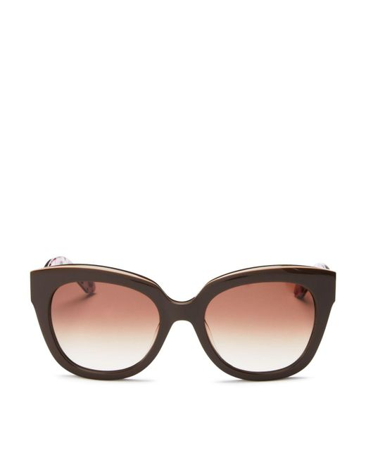 kate spade new york | Brown Amberly Cat Eye Sunglasses, 54mm | Lyst