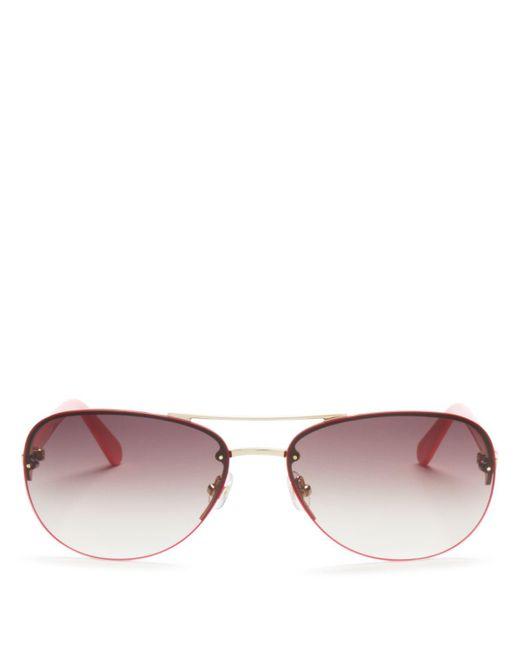 kate spade new york   Metallic Beryl Rimless Sunglasses, 59mm   Lyst