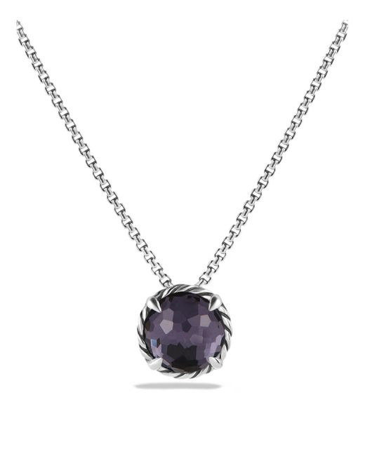 David Yurman | Châtelaine Necklace With Black Orchid | Lyst