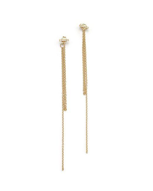 Zoe Chicco | Metallic 14k Yellow Gold Pave Diamond Bar Fringe Drop Earrings | Lyst
