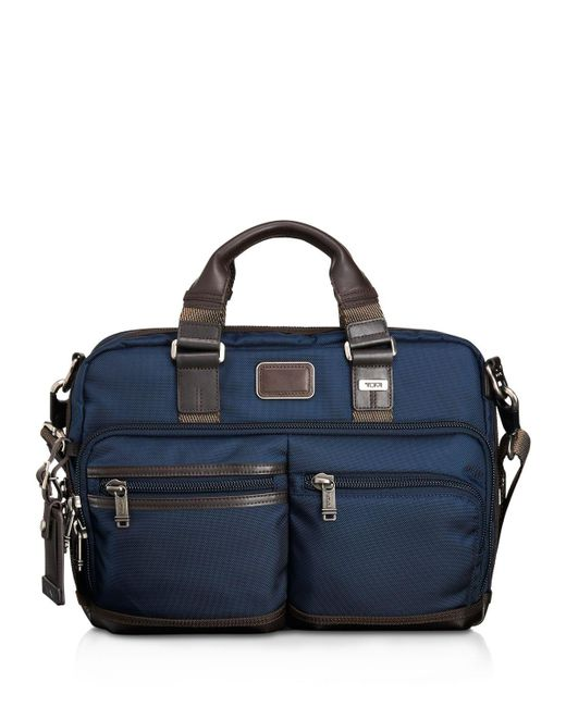 Tumi | Blue Andersen Slim Commuter Briefcase for Men | Lyst