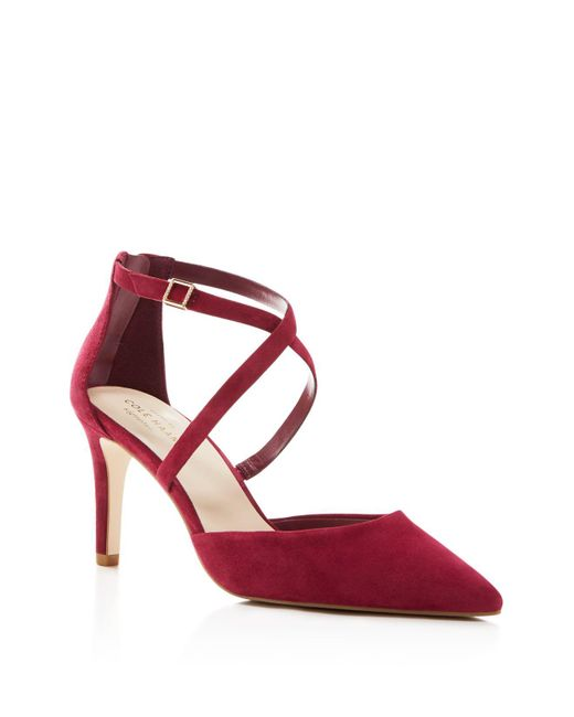 Cole Haan | Red Juliana Strappy Pointed Toe Pumps | Lyst