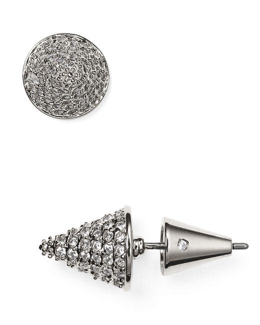 Eddie Borgo   Metallic Pave Cone Stud Earrings   Lyst