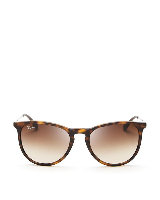 Ray-Ban | Brown Round Keyhole Sunglasses | Lyst