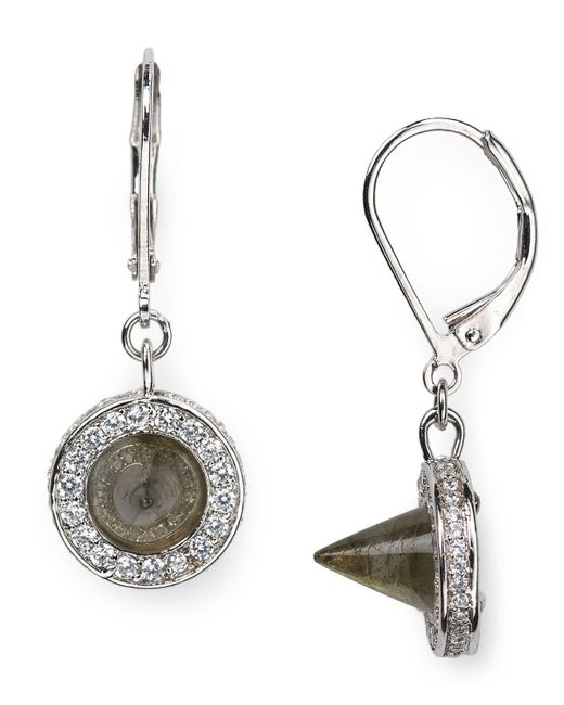 Eddie Borgo | Metallic Cone Drop Earrings | Lyst