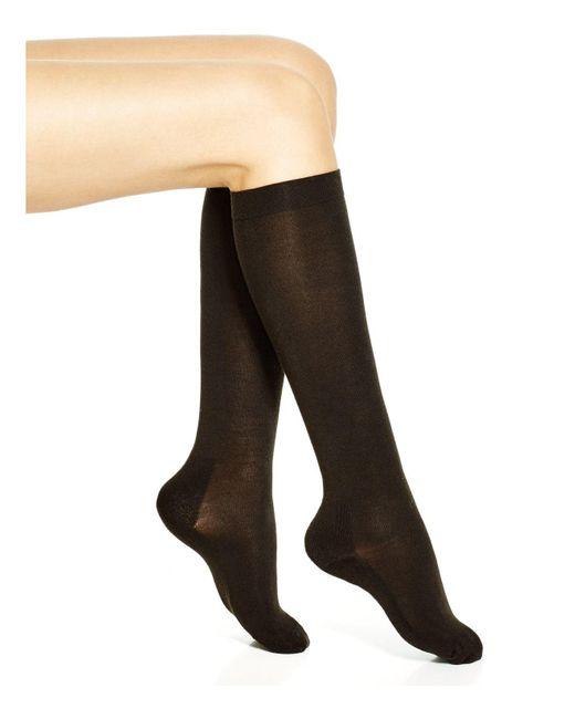 Hue   Black Thermalux Tall & Skinny Knee Socks   Lyst