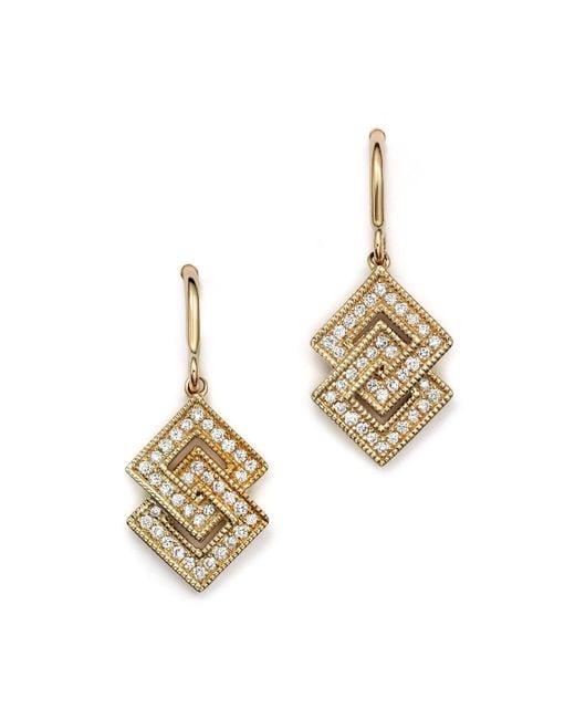 Dana Rebecca | Metallic Isabelle Brooke Diamond Earrings In 14k Yellow Gold | Lyst