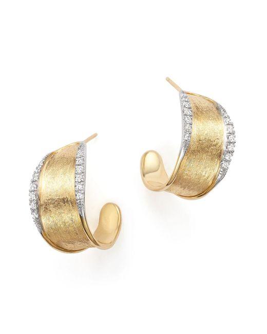 Marco Bicego | Metallic 18k Yellow Gold Diamond Lunaria Hoop Earrings | Lyst