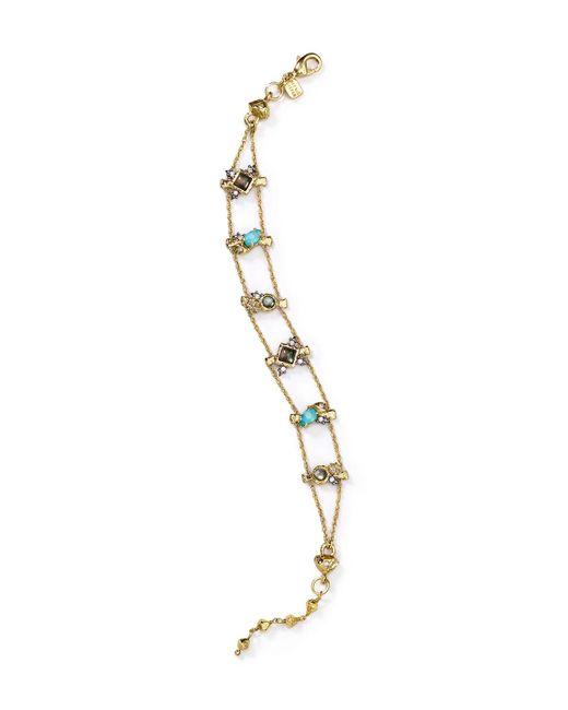 Alexis Bittar | Metallic Elements Embellished Tennis Bracelet | Lyst