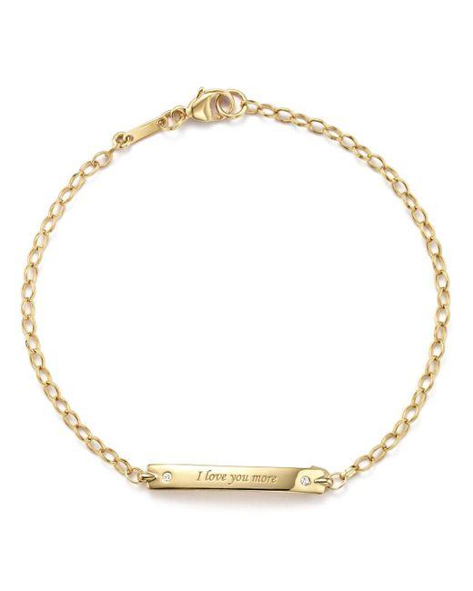 "Monica Rich Kosann | Metallic 18k Yellow Gold ""i Love You More"" Posey Bracelet With Diamond Accents | Lyst"