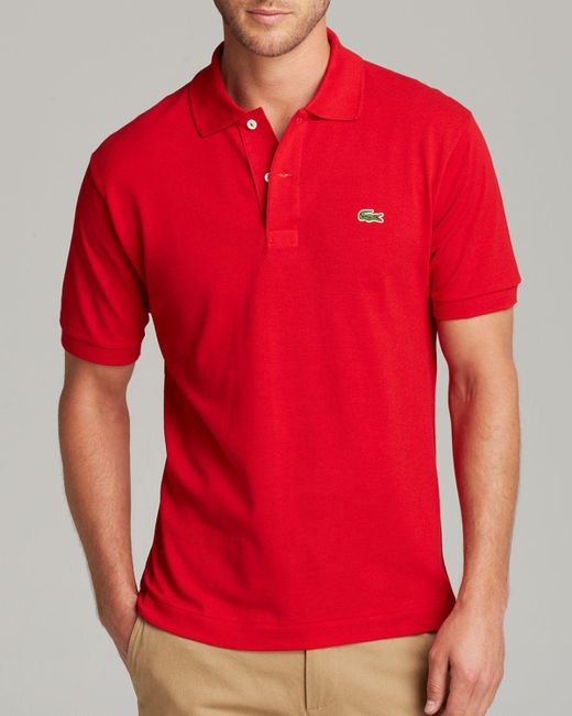 Lacoste | Red Short Sleeve Piqué Polo Shirt - Classic Fit for Men | Lyst