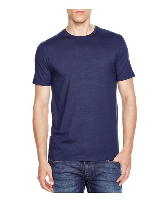 Derek Rose | Blue Micromodal Lounge Tee for Men | Lyst