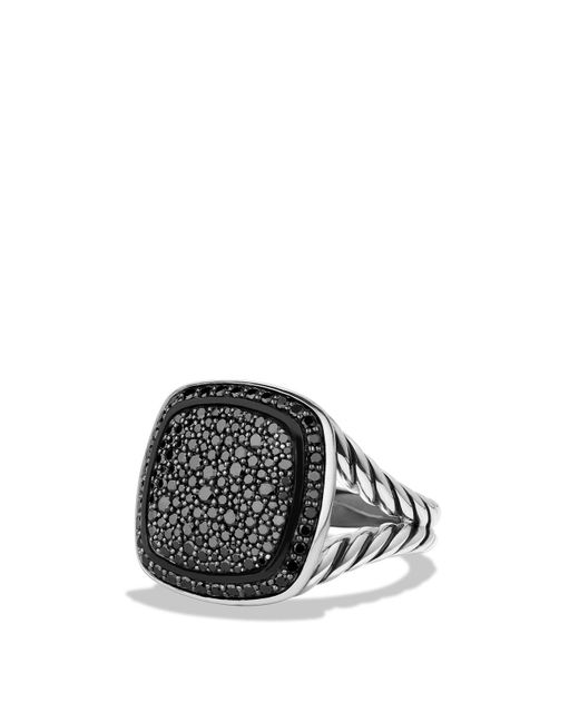 David Yurman | Albion Ring With Black Diamonds | Lyst