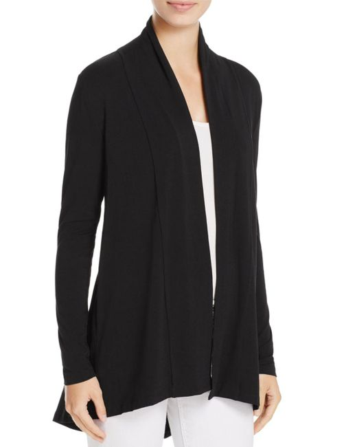 Vince Camuto Black Open Front Cardigan