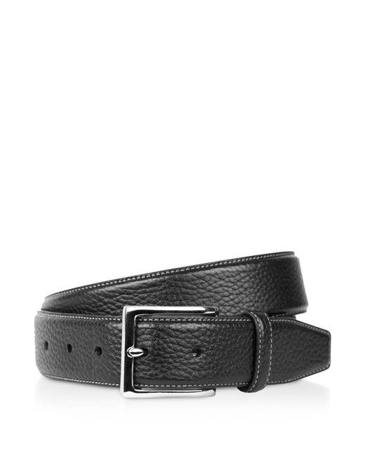 Cole Haan - Black Pebble Leather Belt for Men - Lyst