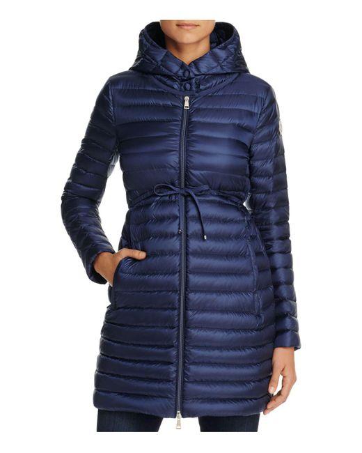 Moncler | Blue Barbel Hooded Puffer Coat | Lyst