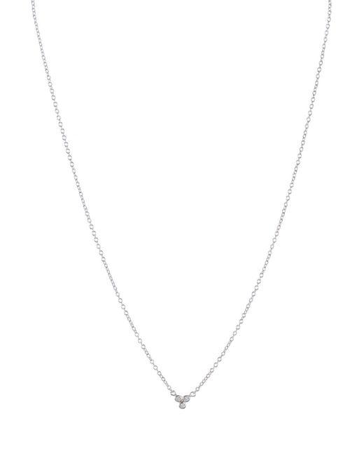 Aqua Metallic Sterling Silver Small Pendant Necklace