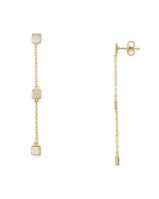 Aqua - Metallic Cube Drop Earrings - Lyst