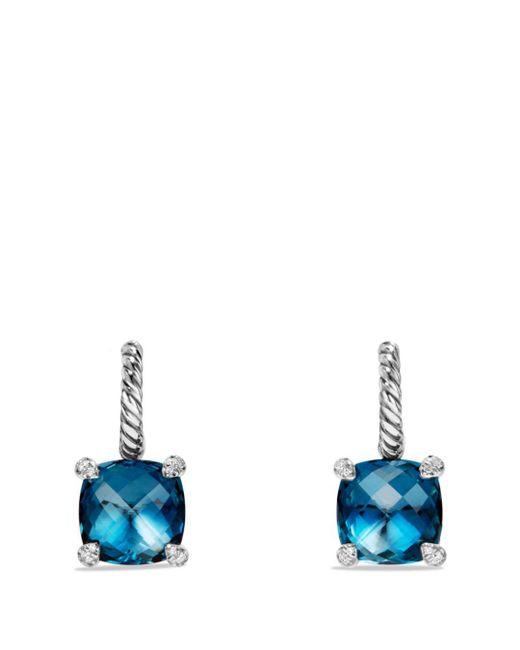 David Yurman - Metallic Châtelaine Drop Earrings With Hampton Blue Topaz And Diamonds - Lyst