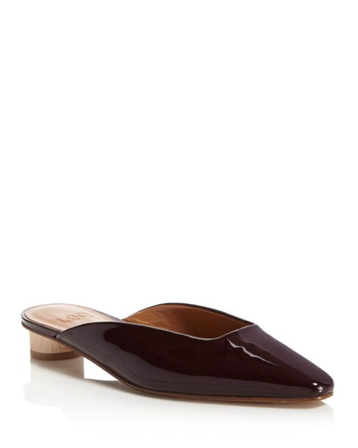LOQ - Brown Carmen Patent Leather Mules - Lyst