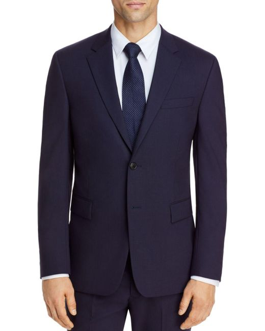 Theory Blue Bowery Traceable Wool Extra Slim Fit Suit Jacket for men