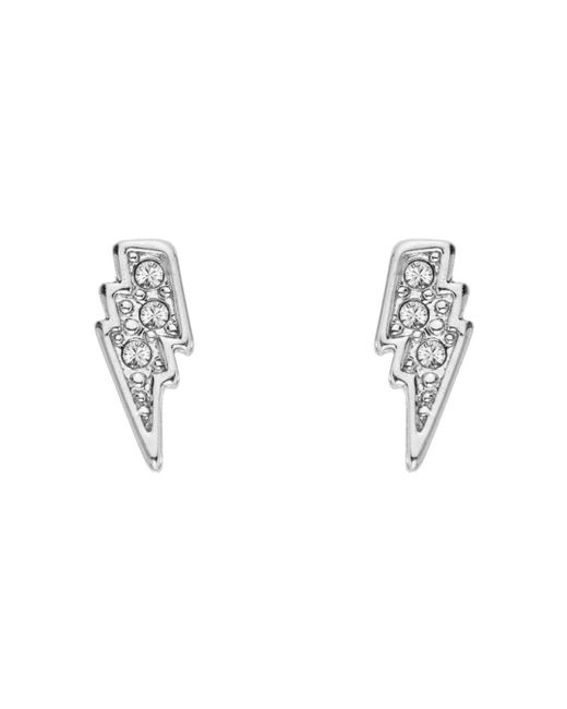 Karl Lagerfeld Metallic Mini Rocky Lightning Bolt Earrings