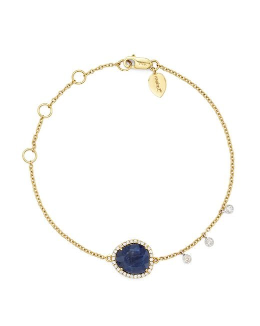 Meira T | 14k Yellow And White Gold Sapphire Bracelet With Diamonds | Lyst