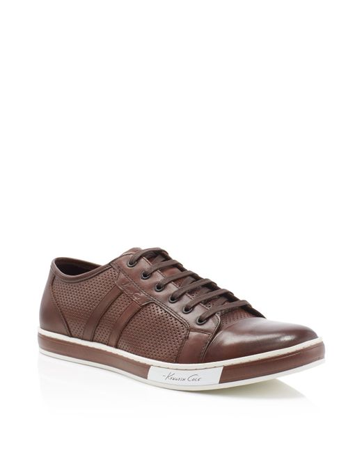 Kenneth Cole   Brown Brand Wagon Lace Up Sneakers for Men   Lyst