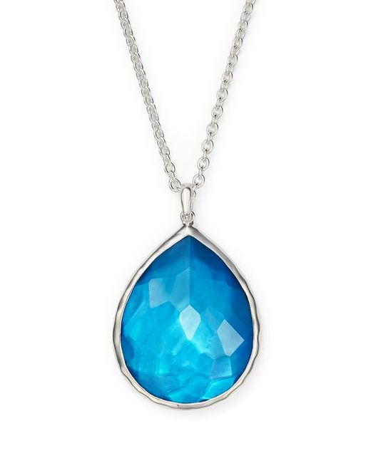 Ippolita | Blue Turquoise Sterling Silver Pendant Necklace | Lyst