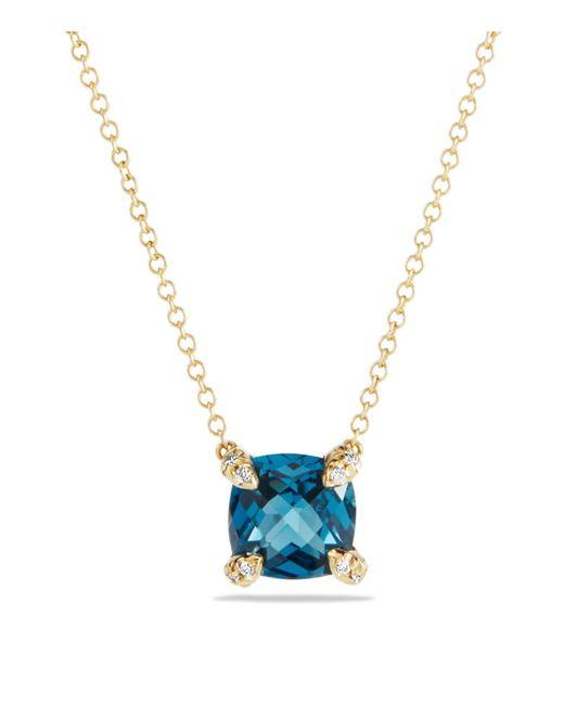 David Yurman | Metallic Châtelaine Pendant Necklace With Hampton Blue Topaz And Diamonds In 18k Gold | Lyst