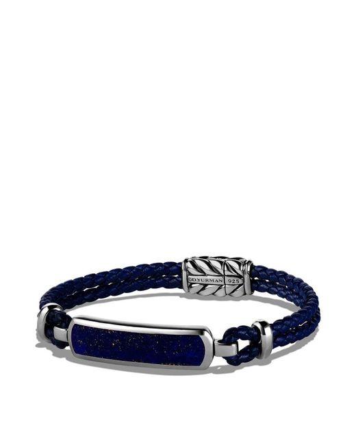 David Yurman | Exotic Stone Station Blue Leather Bracelet With Lapis Lazuli | Lyst