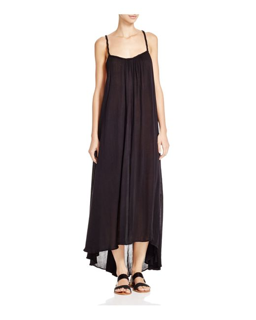 Boho Me | Black Braided Back Maxi Dress Swim Cover Up | Lyst