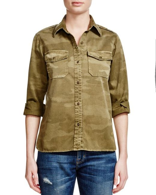 current elliott the perfect camo shirt in natural army