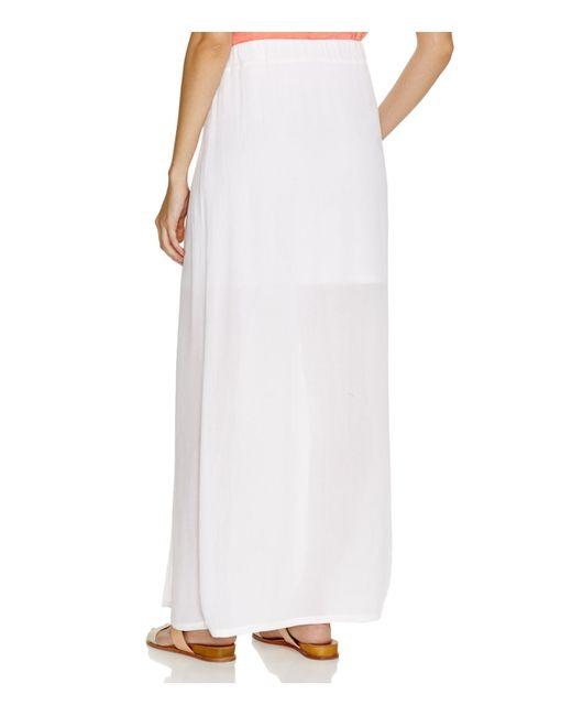 splendid crinkle gauze maxi skirt in white save 26 lyst