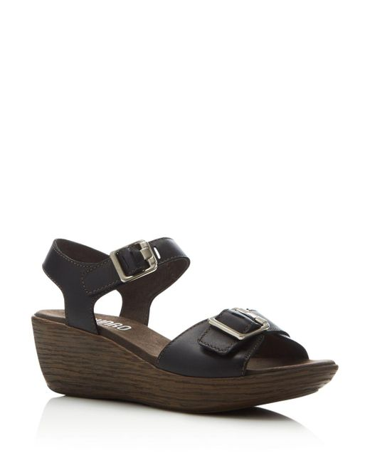 Munro Marci Quarter Strap Wedge Sandal Women Wide